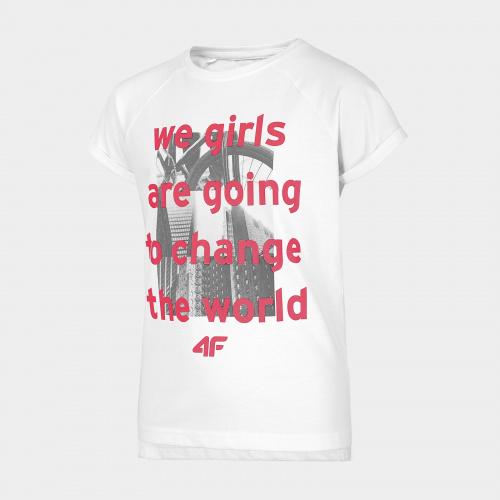Îmbrăcăminte - 4f Girl T-Shirt JTSD005 | Fitness