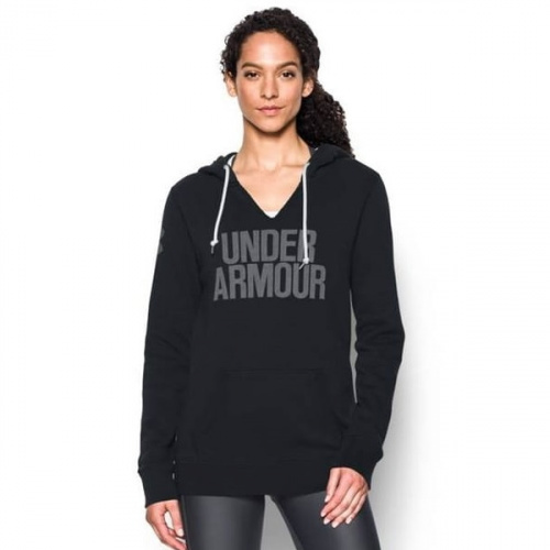 Imbracaminte - Under Armour UA Favorite Fleece Word Mark Popover 3253 | Fitness