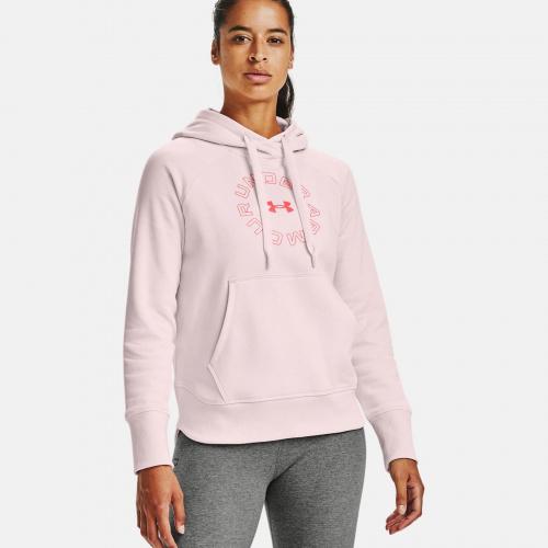 Îmbrăcăminte - Under Armour UA Rival Fleece Metallic Hoodie 6323   Fitness