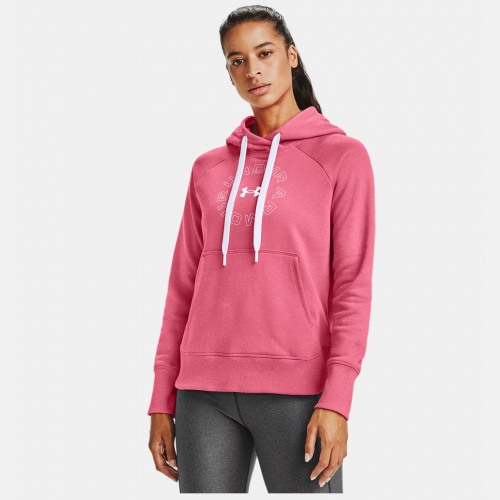 Îmbrăcăminte - Under Armour UA Rival Fleece Metallic Hoodie 6323 | Fitness