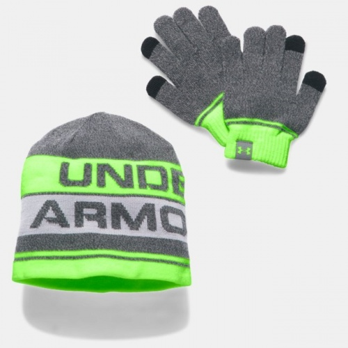 Accesorii - Under Armour Beanie & Glove Combo Set | fitness
